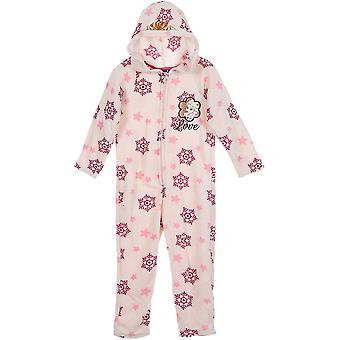 Filles HS2100 Disney Frozen Fleece Sleepsuits / One Piece Pyjamas