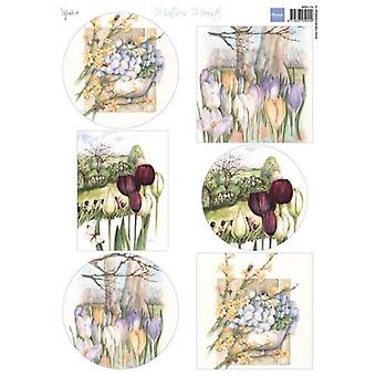 Marianne Design Decoupage Mattie&apos's beautiful: Spring flowers MB0174