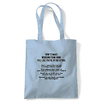 Work From Home Office Rules, Tote - Reusable Shopping Canvas Bag Gift