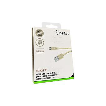 Cable micro-USB metálico Belkin MIXIT UP (4 pies) - Oro