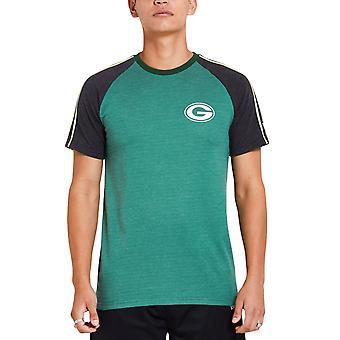 عصر جديد STRIPE RAGLAN قميص -- اتحاد كرة القدم الأميركي غرين باي باكرز