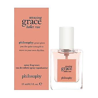 Philosophie incroyable grace ballet rose 0,5 oz eau de toilette spray