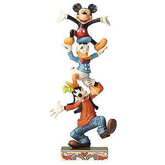 Disney Traditions Teetering Tower Goofy, Donald & Mickey Figurine