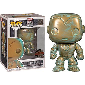 Iron Man Marvel 80th Anniversary Patina US Excl Pop! Vinyl