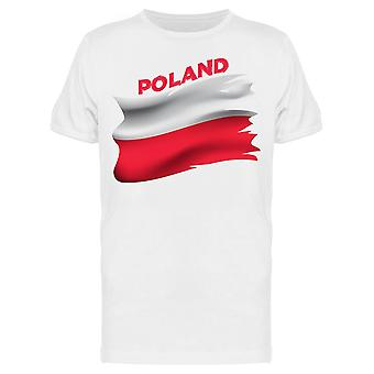 Puola Isänmaallinen lippu Tee Men's -Image Shutterstock