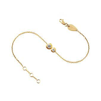 Baby Bracelet Duo Diamonds, 18K Gold