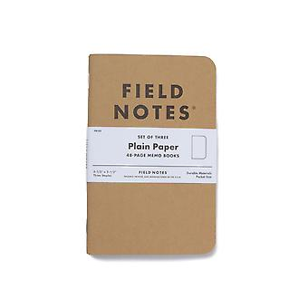 Field Notes Original 3 Pack Plain Notebooks
