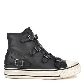 Ash Footwear Virgin Black Buckle Trainer