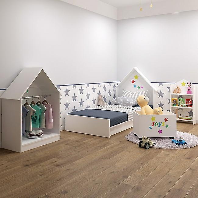 Armadio Plidas Montessori Colore Bianco in Truciolare Melaminico, Alluminio, L80xP40xA120 cm