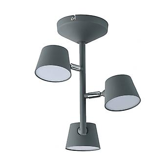 Techno Gray Ceiling Light 3 Bulbs 31 Cm