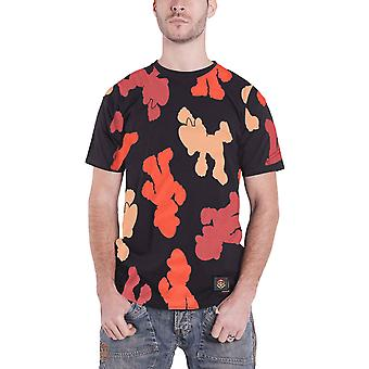 Super Mario T Shirt All over Print Logo nouveau officiel Mens Black