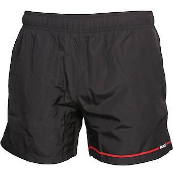 HUGO Copacabana Logo Stripe Swim Shorts, Black