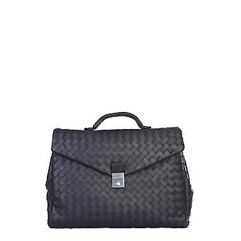 Bottega Veneta 630239vcrl28803 Men's Black Leather Aktetas
