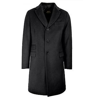 CC Collection Corneliani Charcoal Grey Wool-Blend Coat