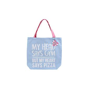 CGB Giftware Gym And Tonic Heart Says Pizza Tote Bag