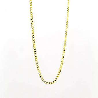Eternity 9ct Gold 18'' Open Diamond Cut Solid Curb Chain