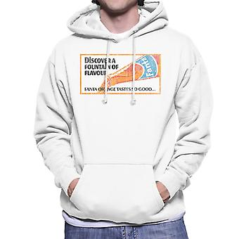 Fanta Fountain Of Flavour 1960s Poster Men's Hooded Sweatshirt