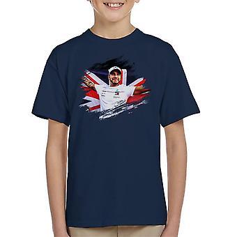 Motorsport Images Lewis Hamilton Autodromo Kid's T-Shirt