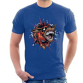 Marvel Deadpool Bursting Dogpool Men's T-Shirt