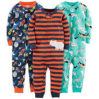 Einfache Freuden von Carter's Baby Boys' 3-Pack Snug Fit Footless Cotton Pyjamas, D...