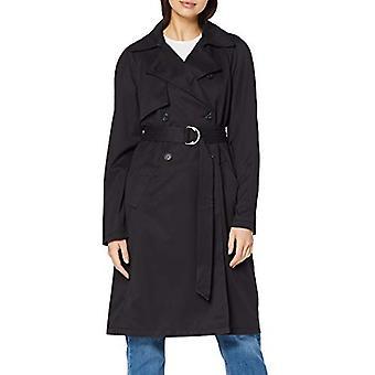 MERAKI Women's Standard Trench Belted Coat, (Svart), EU XL (US 12-14)