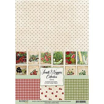 Reprint Fruits & Veggies Collection A4 Paper Pack