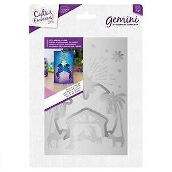 Gemini Away in a Manger Cut and Emboss Folder