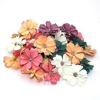 Daisy Flower Head Mini Silk Artificial Daisy Flower Head Decoration For Home,