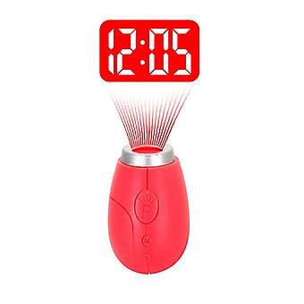 Vst cl-001 elektronische mini draagbare digitale geleide projectietijdklok met sleutelhanger voor kid's verjaardagsgiften zak digitale klok rood lichtmuur