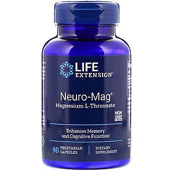 Estensione della vita, Neuro-Mag, Magnesio L-Threonate, 90 Capsule Vegetariane
