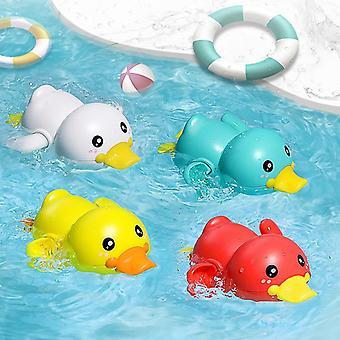 Bathroom Bath Shower Baby Clockwork Swimming- Children Play Water Cute Little Yellow Duck Bathing Bathtub Toys For Kid