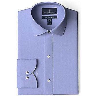 BUTTONED DOWN Men's Slim Fit Spread-Colle Non-Iron Dress Shirt (No Pocket), ...