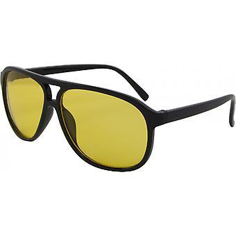 Sonnenbrille Unisex  Wayfarer Kat. 3 schwarz/gelb (Basic 154-A)