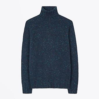 PS Paul Smith  - Flecked Funnel Neck Sweater - Dark Navy