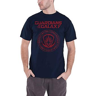 Guardians Of The Galaxy T Shirt Seal Official Marvel Comics Mens Navy Blue