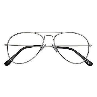 Leesbril Women's Ann zilver/zwarte dikte +1.00
