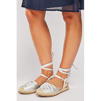 Sandálias de plataforma Lace Up