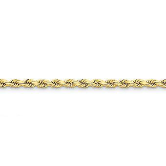 14k Yellow Gold Solid 5mm D Cut Rope Lobster Clasp Chain Necklace Lobster Claw Jewelry Gifts for Women - Length: 16 to 3