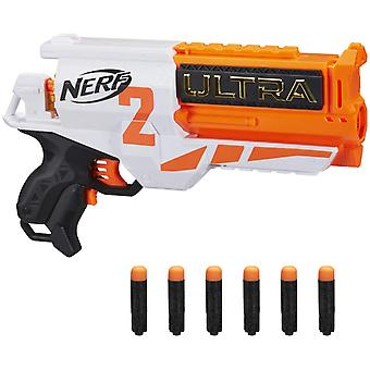 NERF Ultra Two Motorized Blaster -- Fast-Back Reloading -- Includes 6 Ultra Darts
