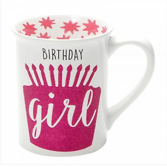 Birthday Girl Glitter Mug