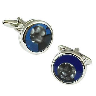 Ties Planet Tresanti Blue Cats Eye Window Designer Cufflinks