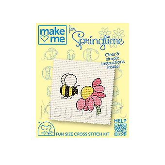 Bee & Flower - Make Me for Easter Small Counted Cross Stitch Kit