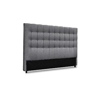 الملك حجم السرير اللوح الأمامي سرير إطار رئيس النسيج قاعدة طوف رمادي