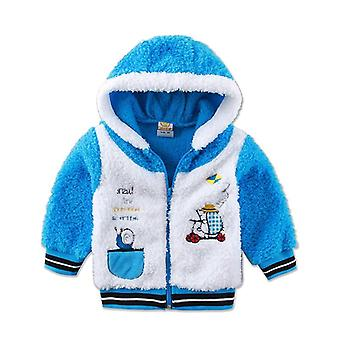 Children Long Sleeve Hoodie Coral Fleece Warm Autumn And Winter Clothes