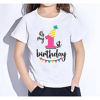 Dzieci Happy Birthday, Numer 1-9 List Print T Shirt & Boys Set-1