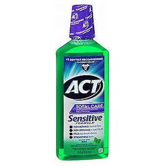 Act ACT Total Care Sensitive Formula Anticavity Fluoride Mondwater, Mild Mint 18 oz