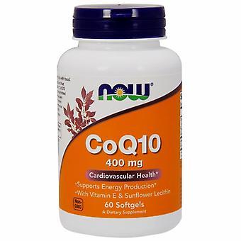 "Now Foods CoQ10, 400 מ""ג, 60 ג'לים רכים"