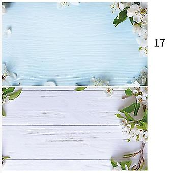 Ins Style 3d Printing Photo Backdrop Double Sides Wood Marble Cement Wall