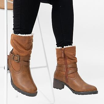 Heavenly Feet Courtney Ladies Ankle Boots Tan