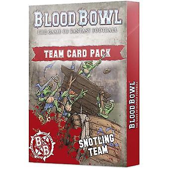 Spel Workshop - Blod skål: snotling Team kortpaket